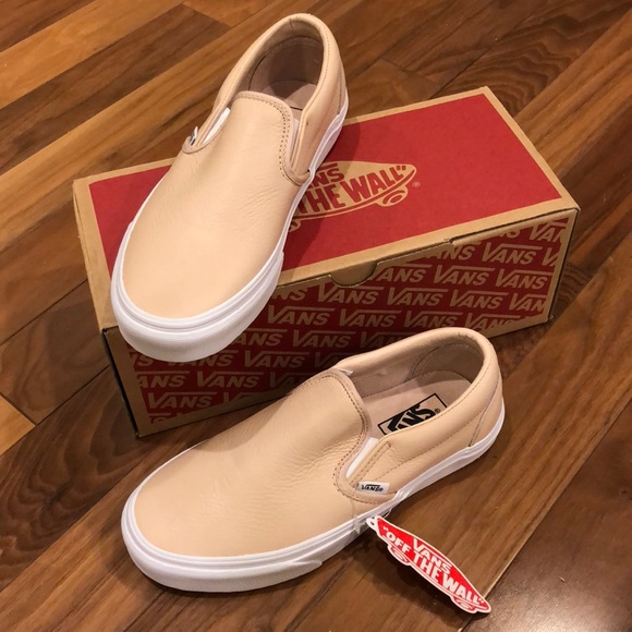 ef021036b74a SALE! NWT! Leather Frappe Classic Slip-On Vans 7.5